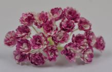 2 TONE PLUM WHITE GYPSOPHILA / FORGET ME NOT Mulberry Paper Flowers